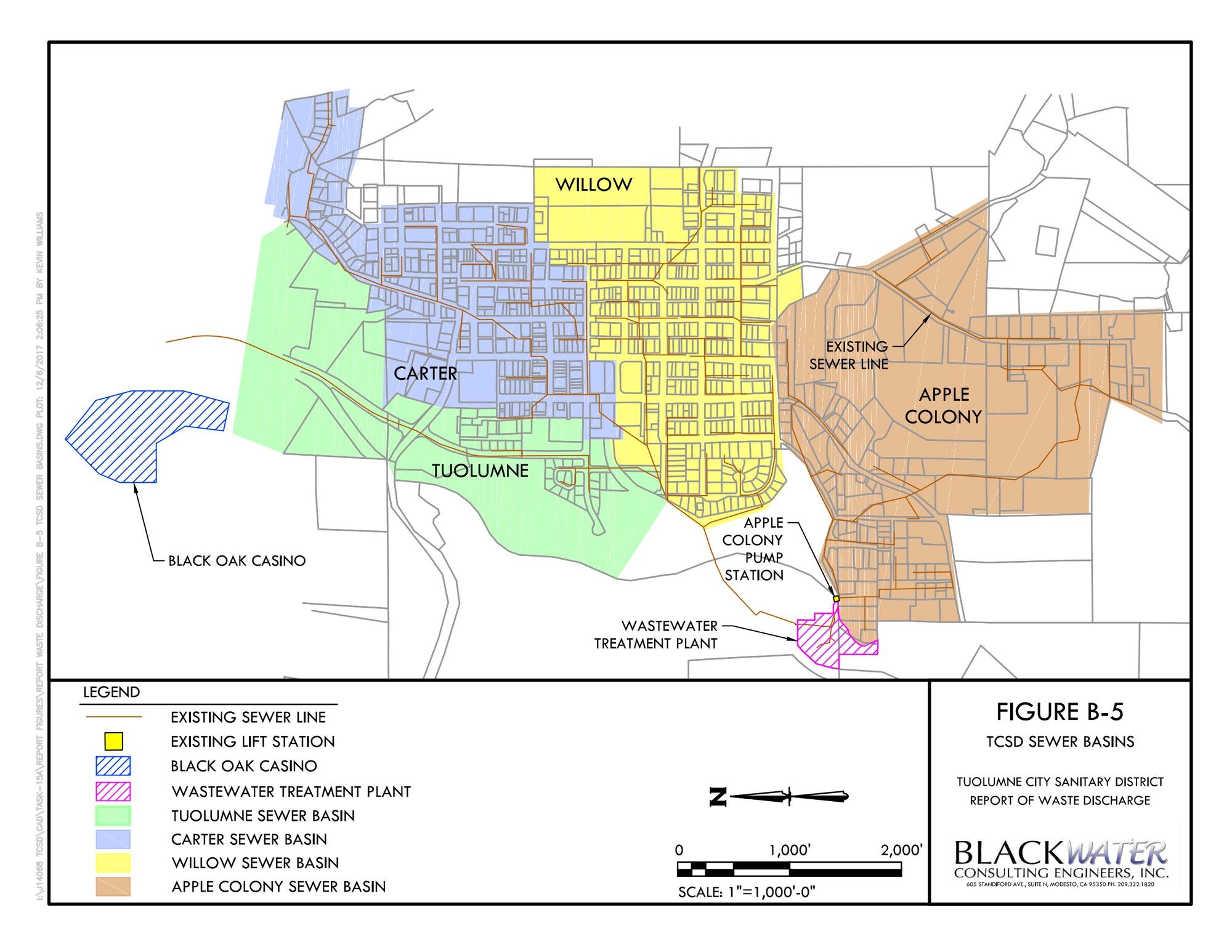 TCSD Service Area Map