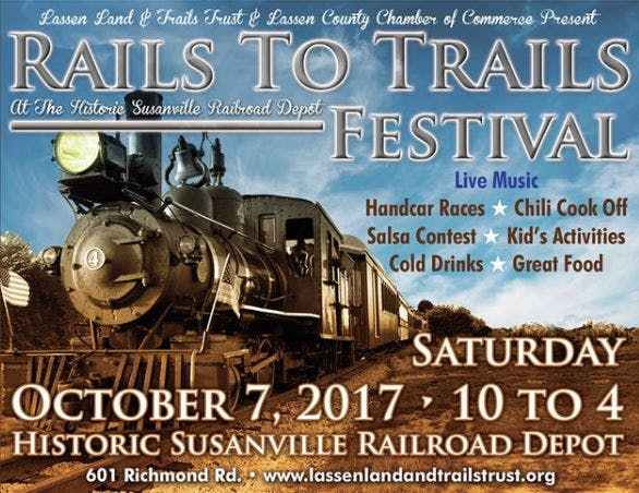 May contain: train, locomotive, transportation, vehicle, advertisement, and poster