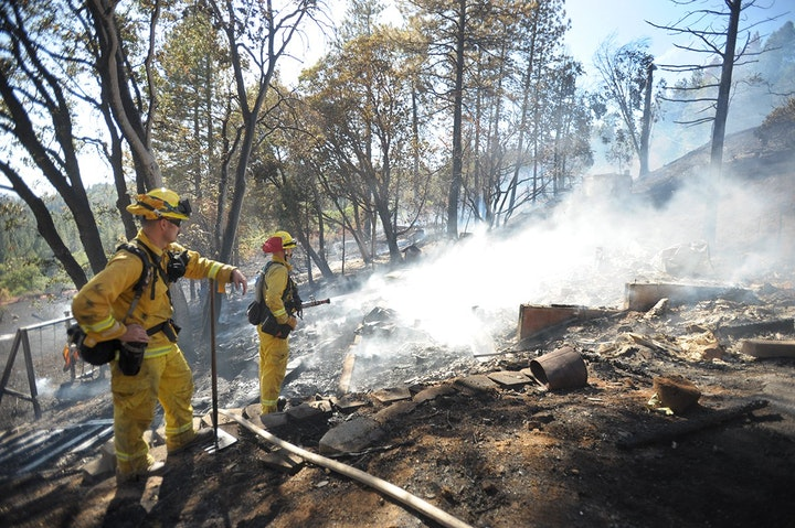 Homes were lost in the Meyers Fire that also burned 12 acres in Camino Sept. 20. Democrat file photo by Krysten Kellum