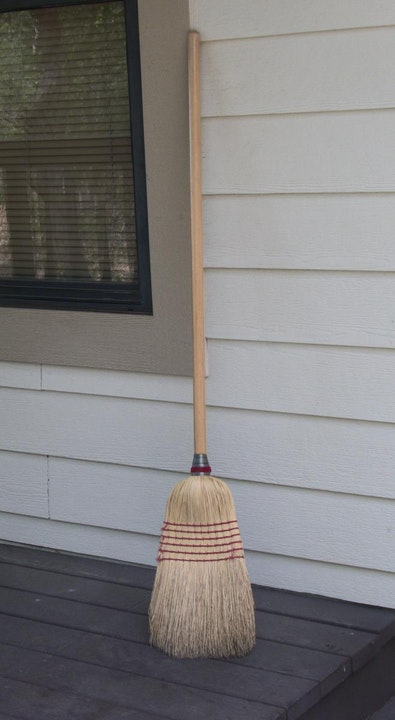 Broom against wall