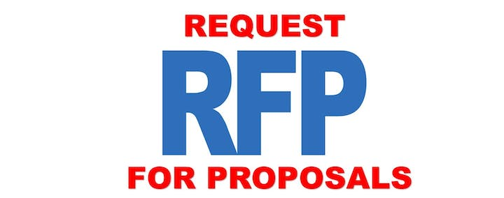 artwork that says request RFP for proposals
