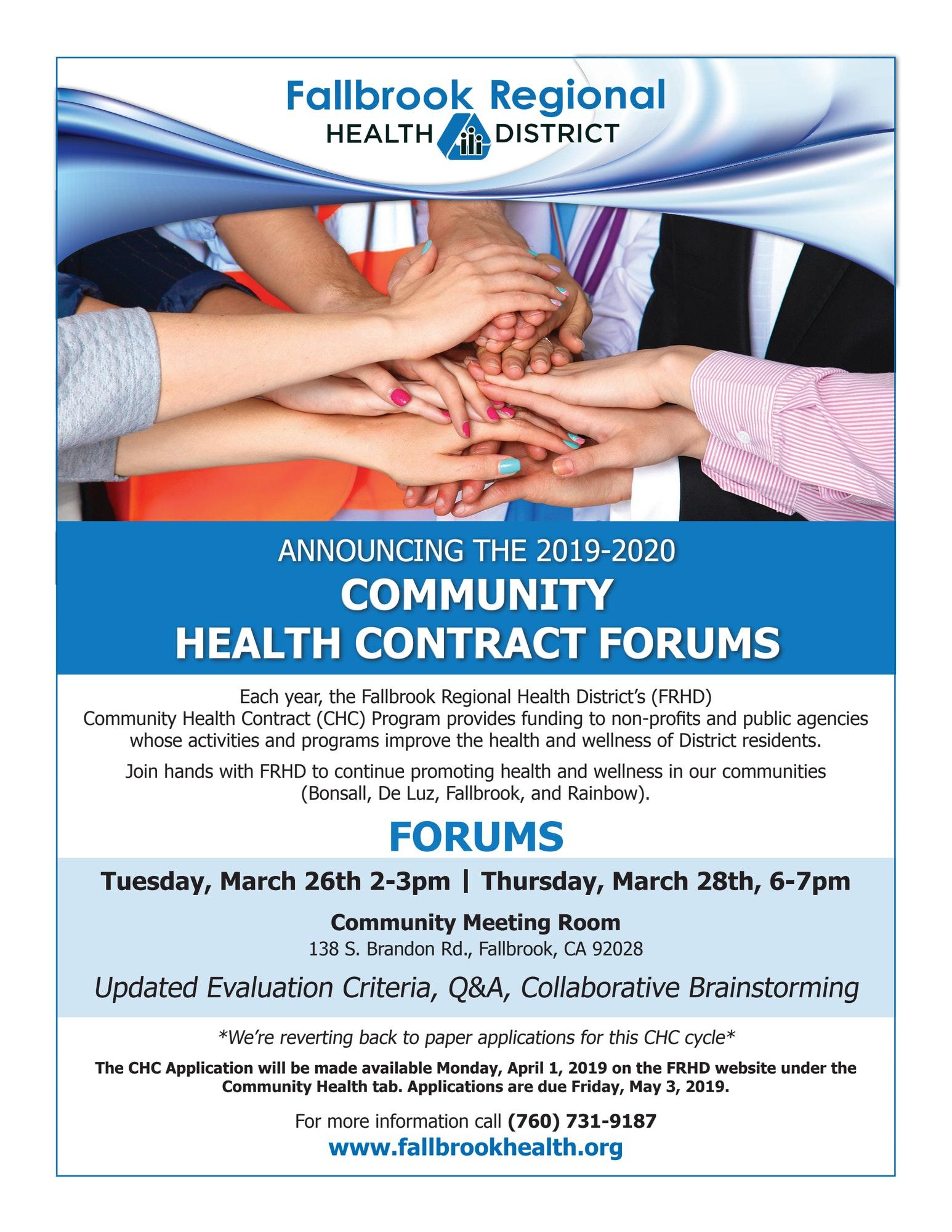 2019-2020 Fallbrook Regional Health District Community