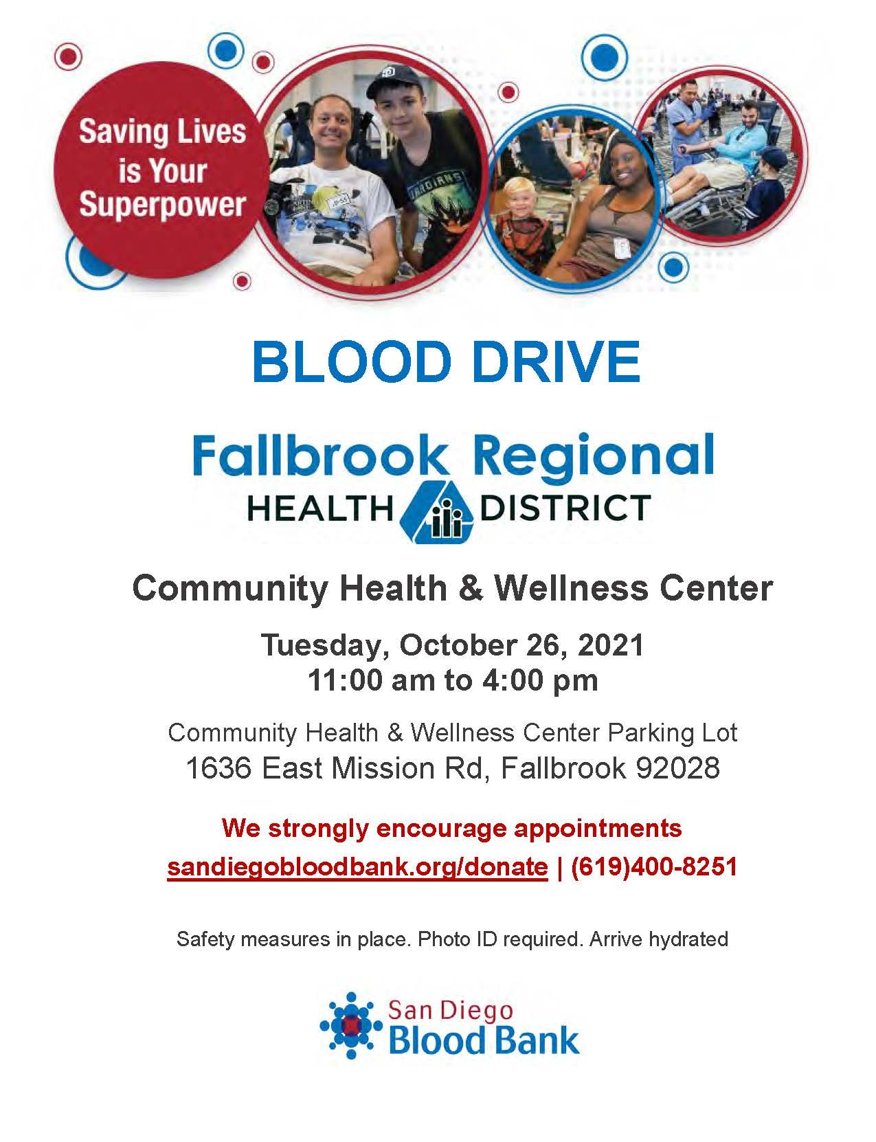 Image of Blood Drive flyer