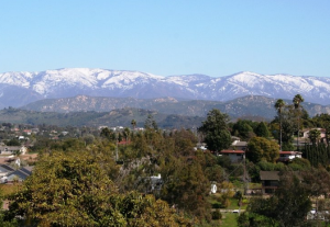 Hills and landscape of Fallbrook, California.