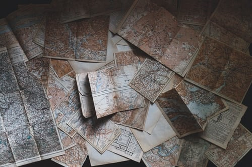 Photo of old maps