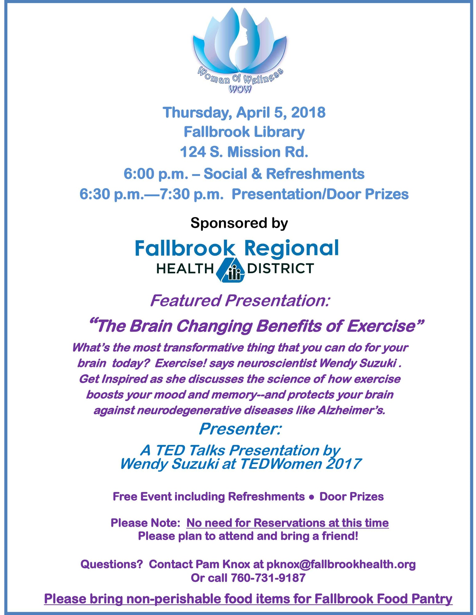 April Presentation: The Brain Changing Benefits of Exercise