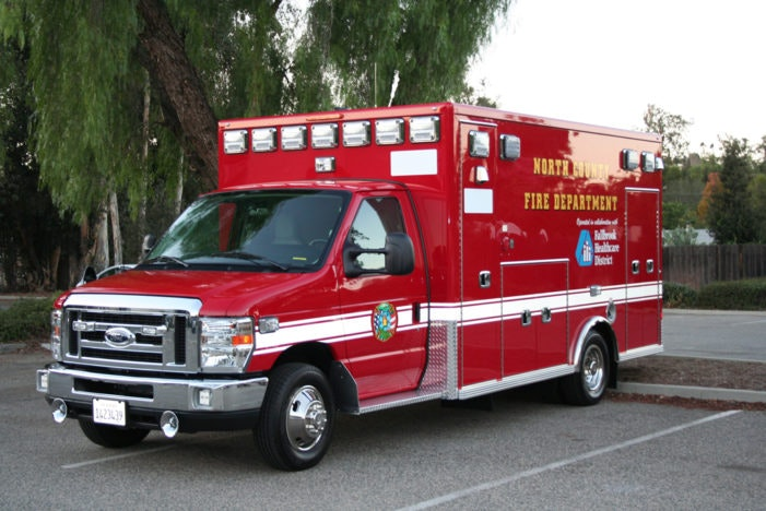 Image of red ambulance