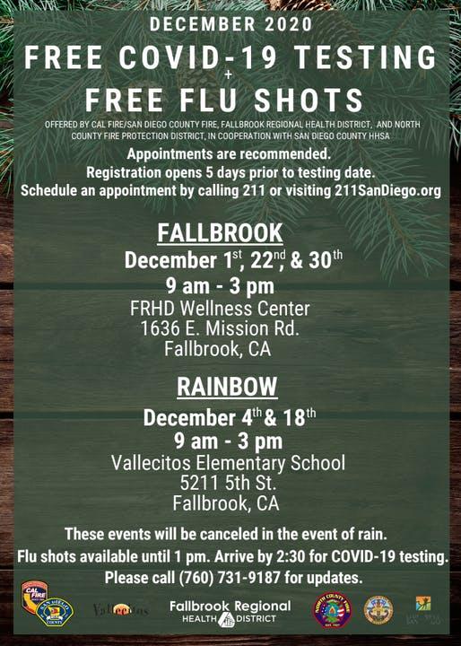 Covid 19 Information Updates Fallbrook Regional Health District