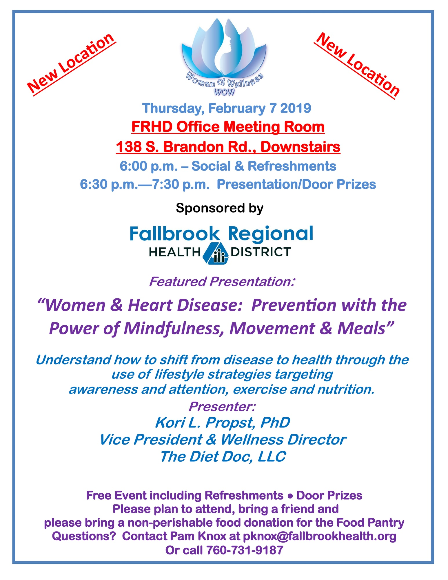 Women & Heart Disease:  Prevention with the Power of Mindfulness, Movement & Meals
