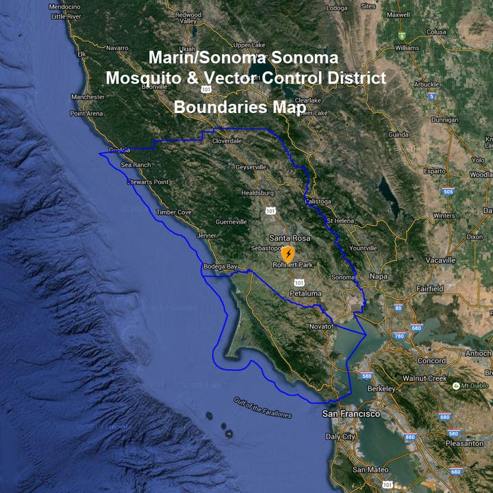 MSMVCD service area map