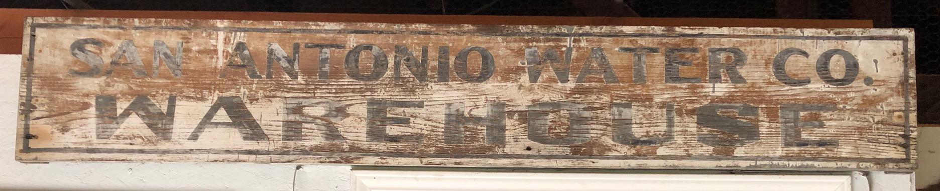 Old Sign - San Antonio Water Co. Warehouse
