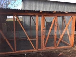 Brian Nguyen designed and built an outdoorchicken run.
