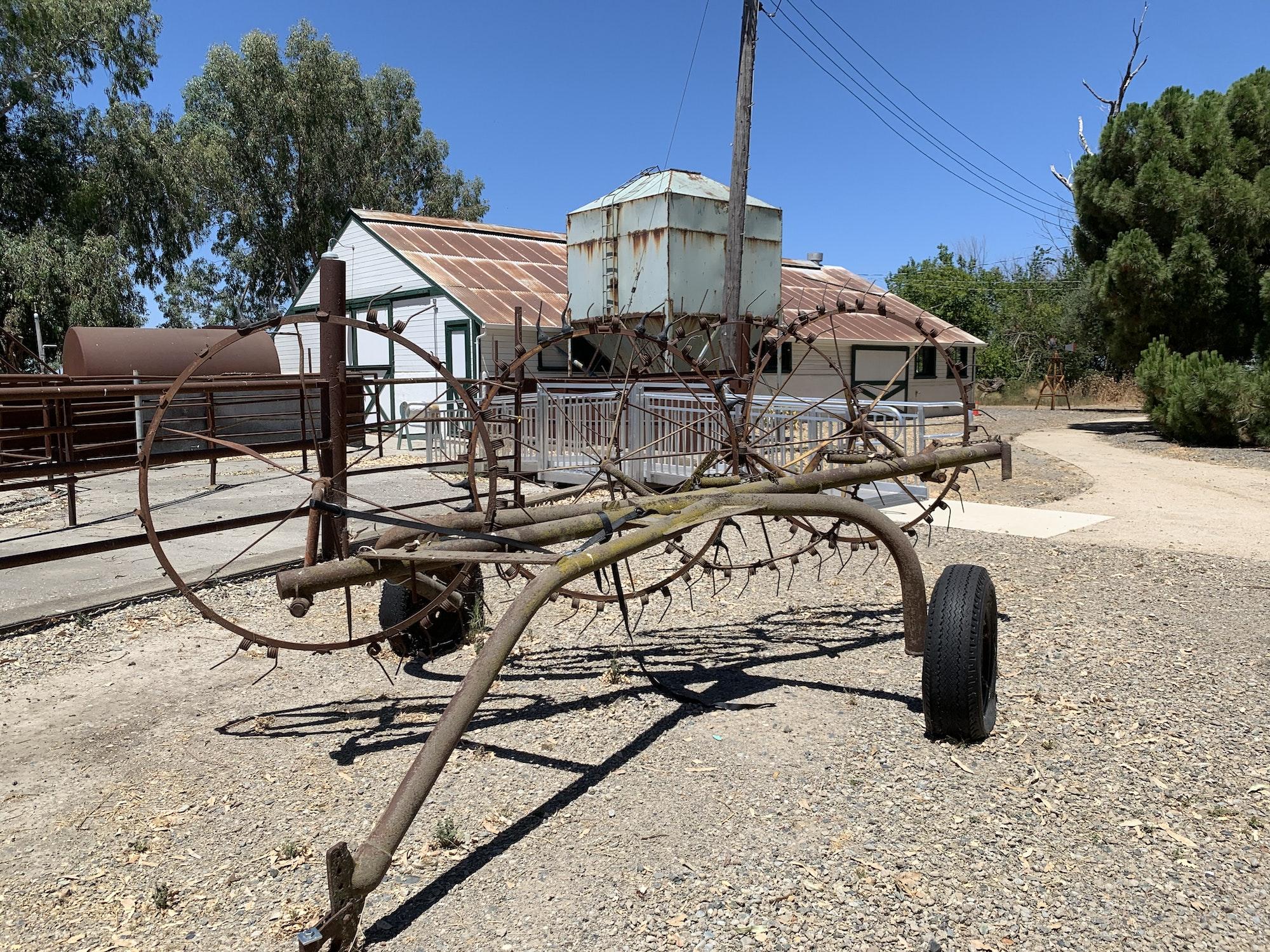 May contain: wagon, transportation, vehicle, and nature