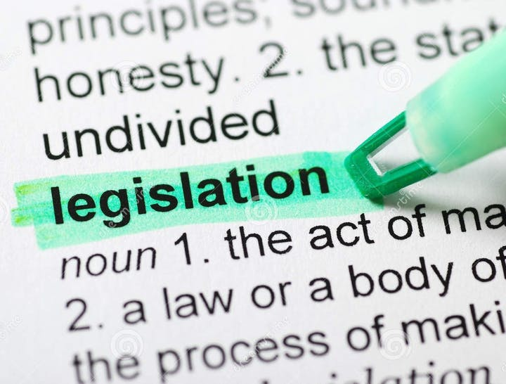 image of definition of legislation