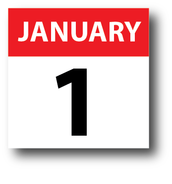 January 1 Calendar Icon