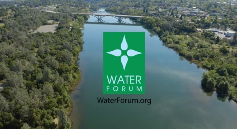 Water Forum picture with water and bridge and logo
