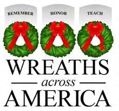 May contain, wreaths, headstones, wreaths across america