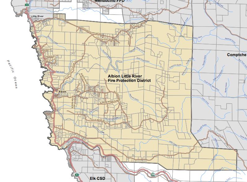 Albion-Little River FPD Service Area