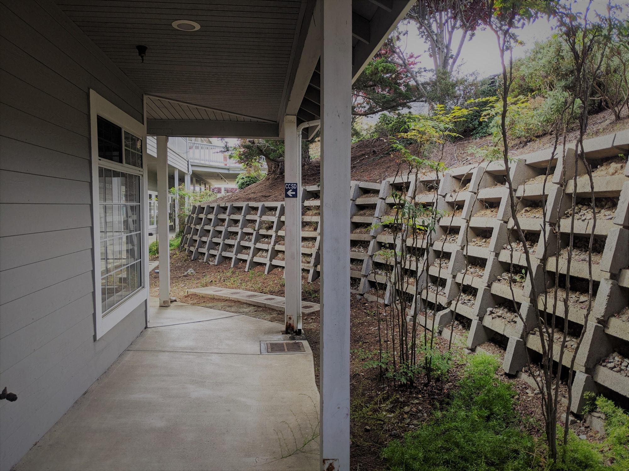 May contain: porch, patio, corridor, and pergola