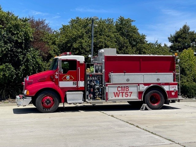 May contain: fire truck, truck, vehicle, and transportation