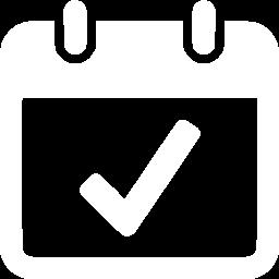Calendar Image With Checkmark