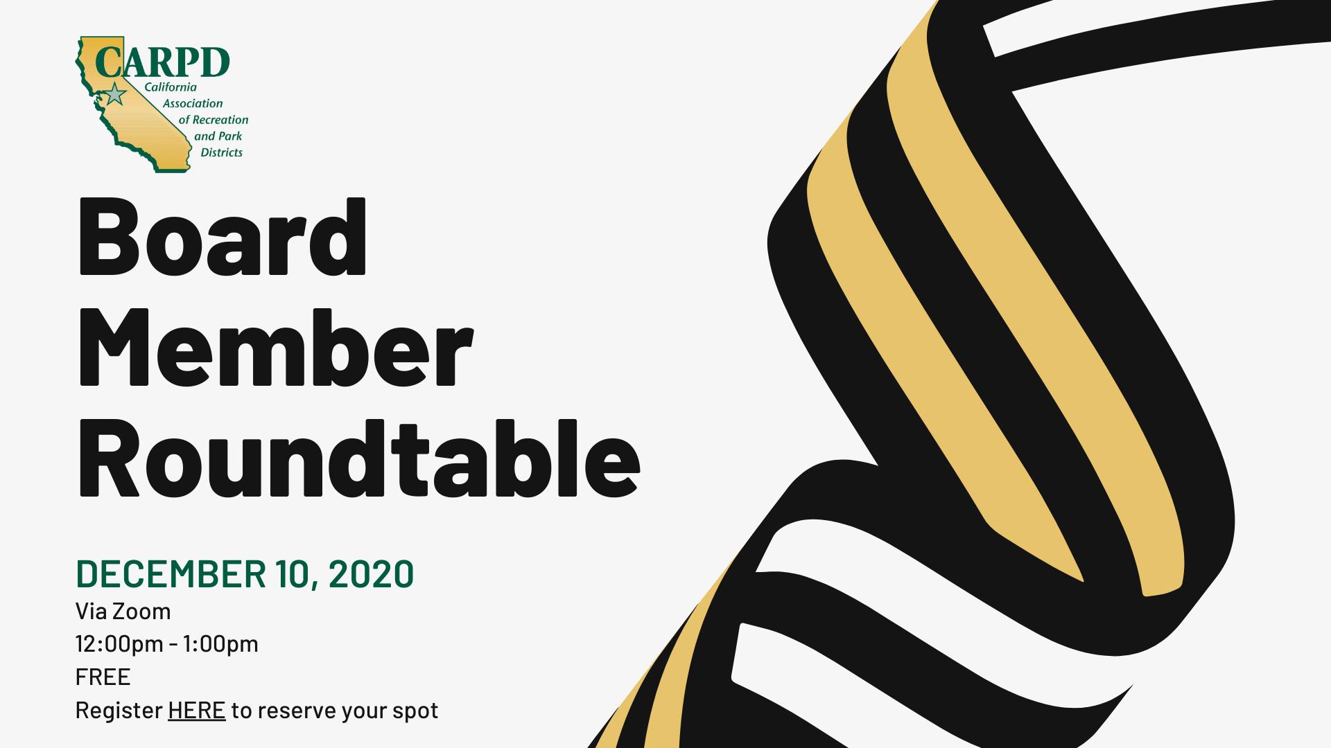 Board Member Roundtable - December 10, 2020