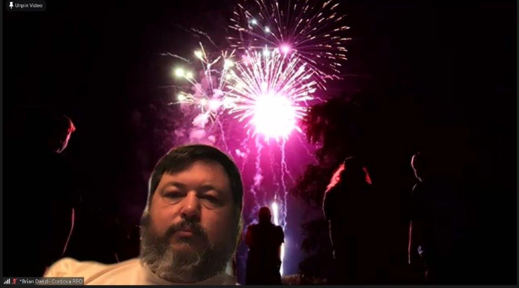 May contain: nature, outdoors, lighting, person, human, face, night, and fireworks
