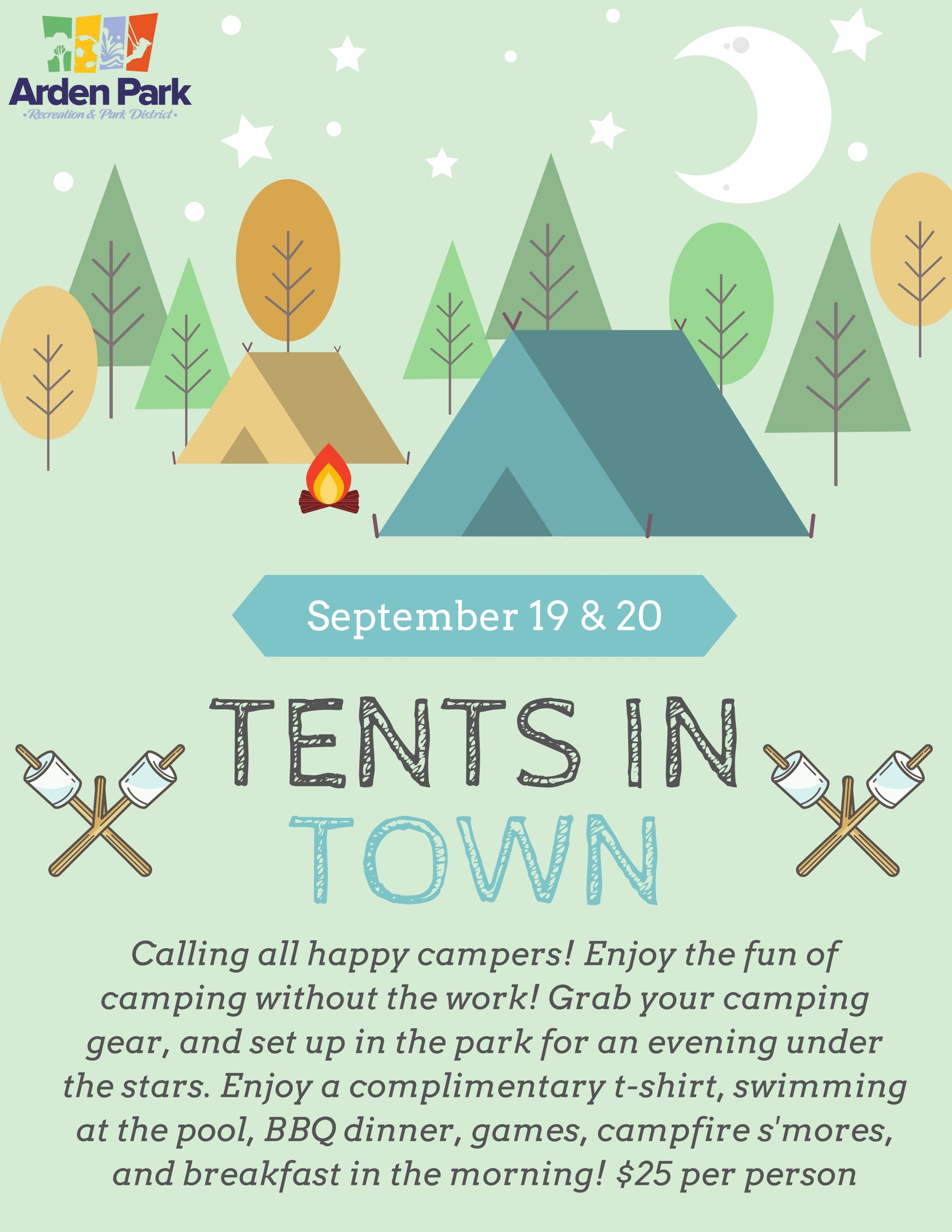Tents in Town Flyer
