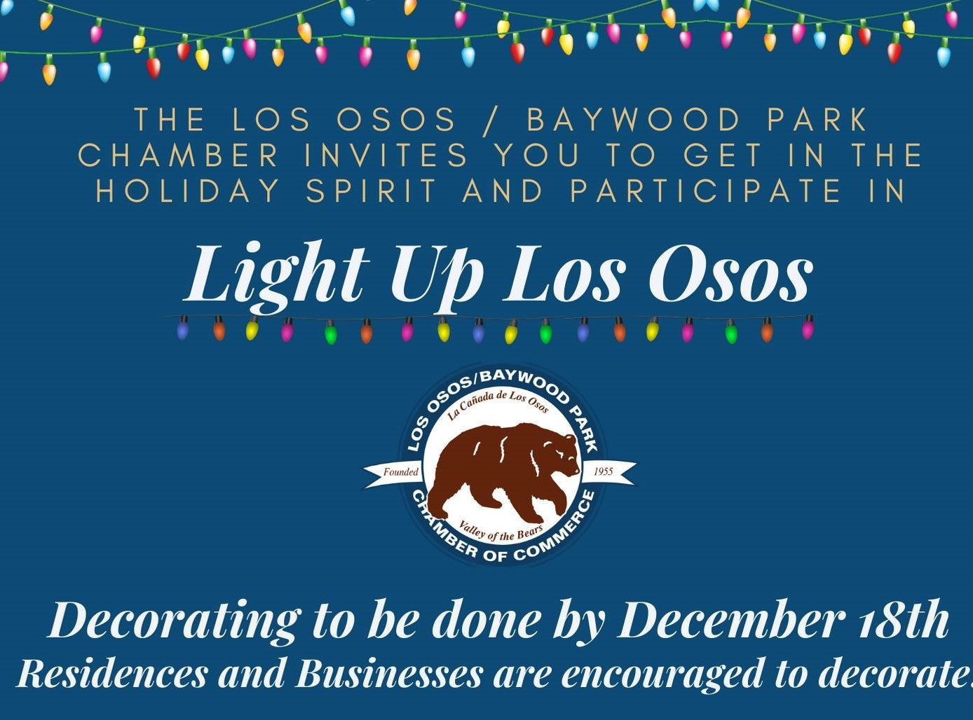 Light Up Los Osos Advertisement, Logo bear