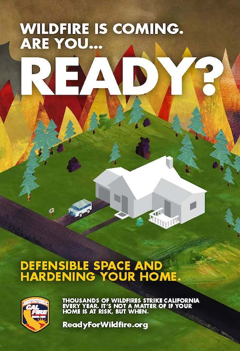 CalFire Flyer - Wildfire is coming are you READY