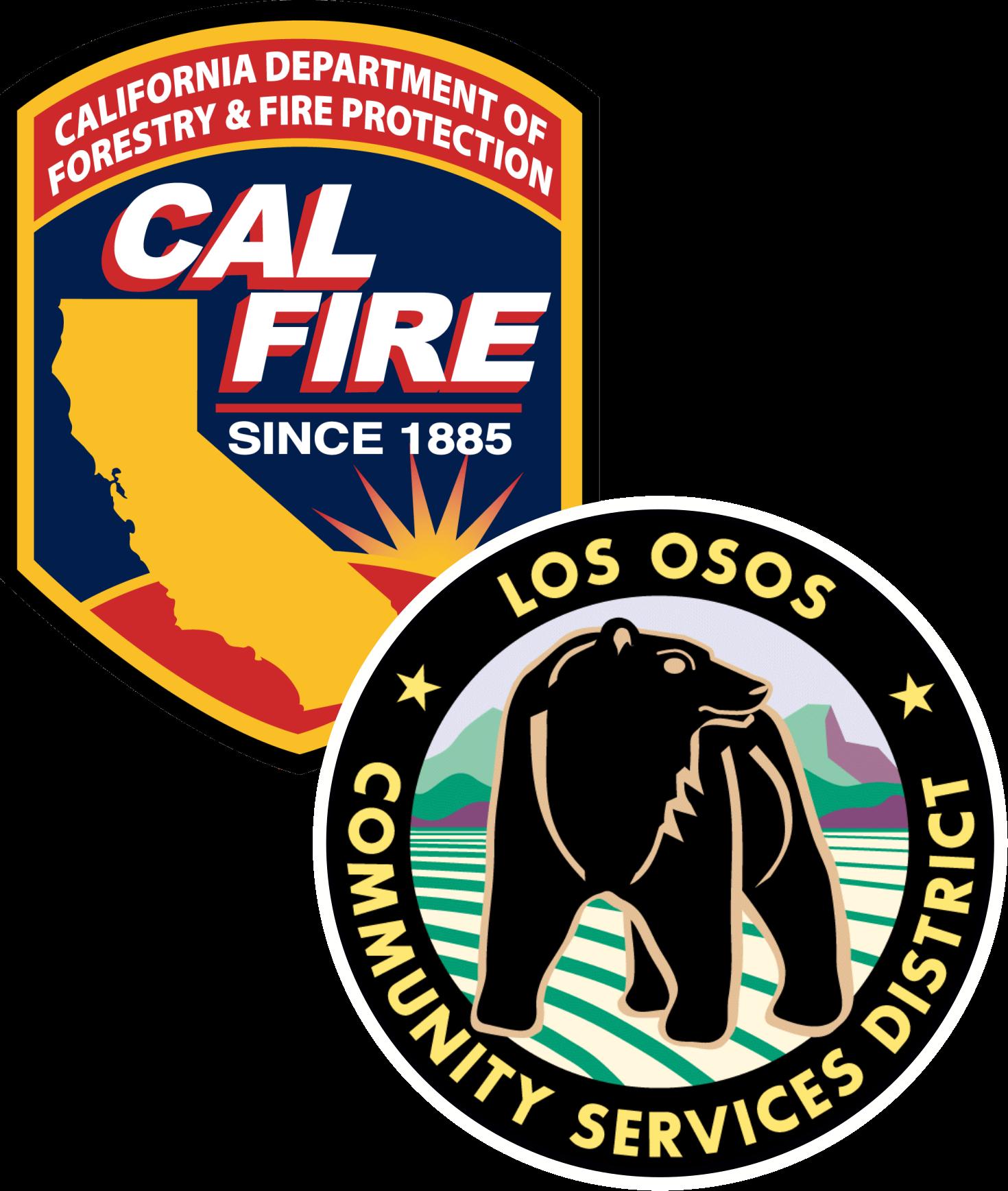 Cal Fire Logo, Los Osos CSD Logo