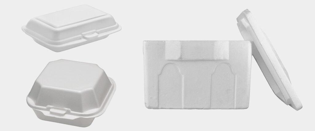 3 Plastic Foam Containers