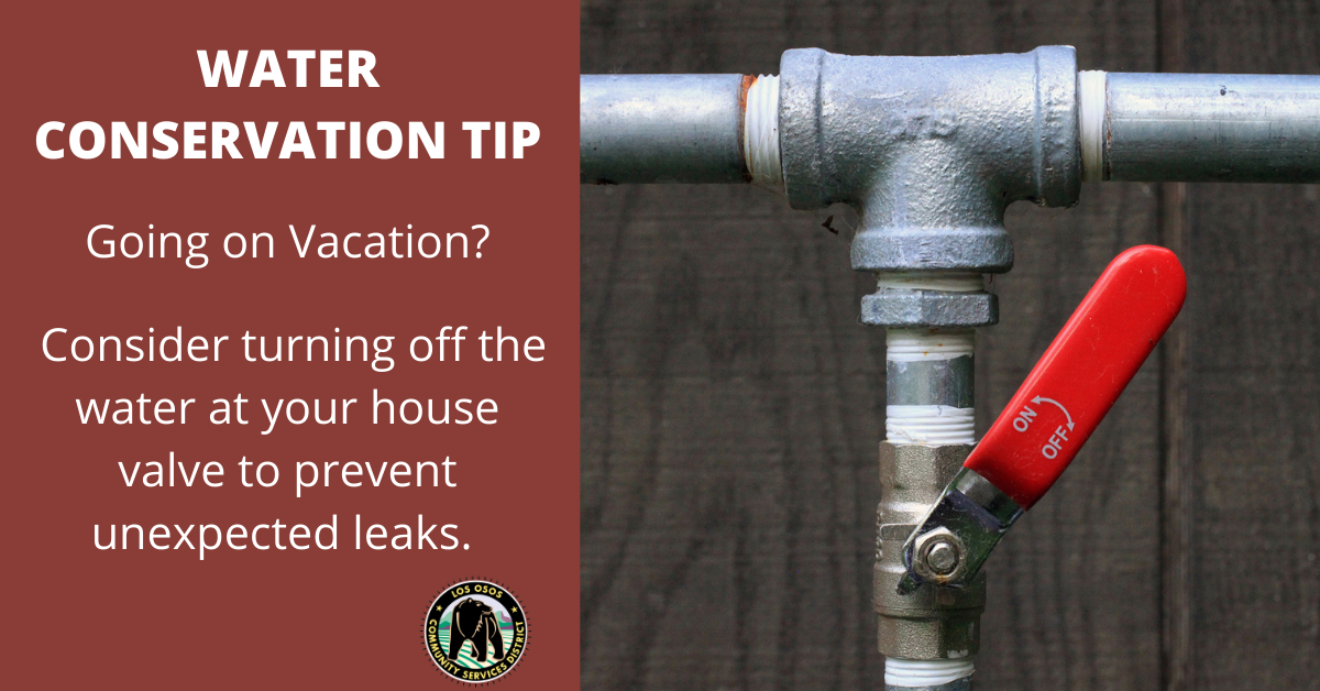 Water Conservation Tip, Water Valve, Pipe