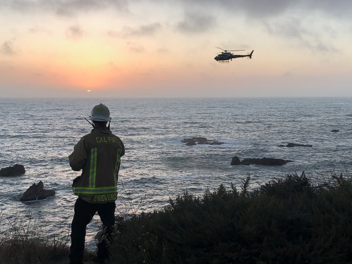 fire Chief, cliff rescue, helicopter