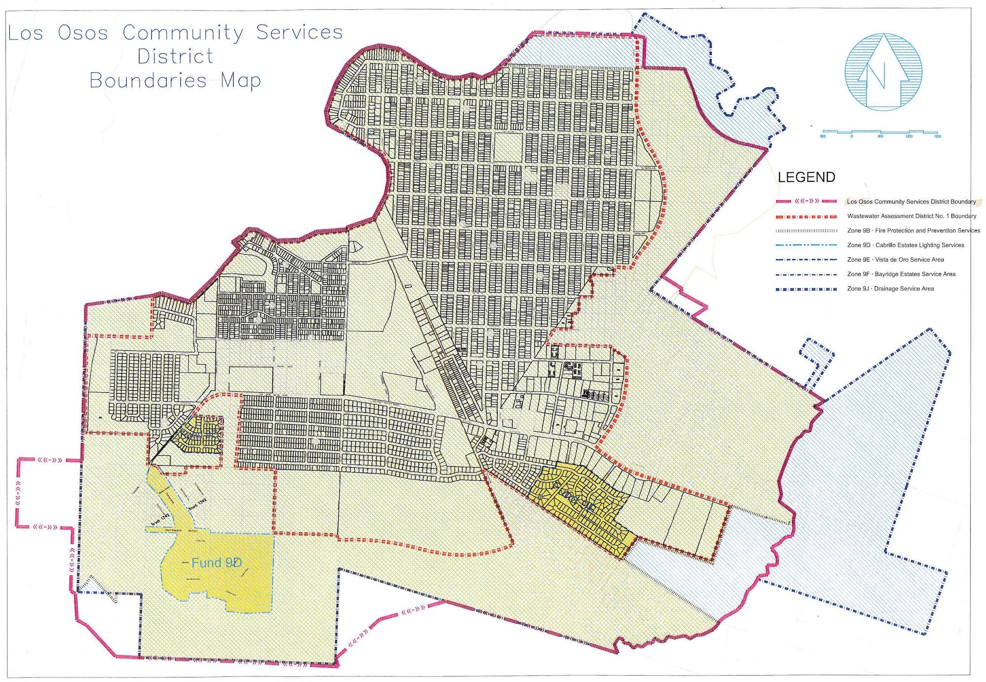 May contain: plot and diagram, Los Osos Boundaries Map