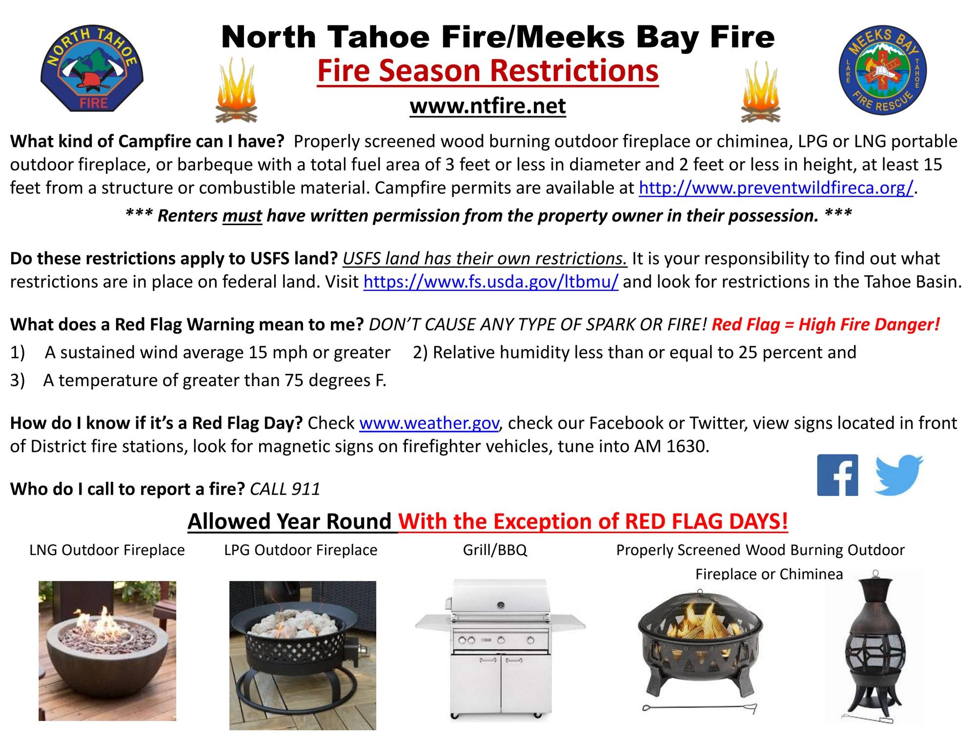 Fire Season Burning Restrictions