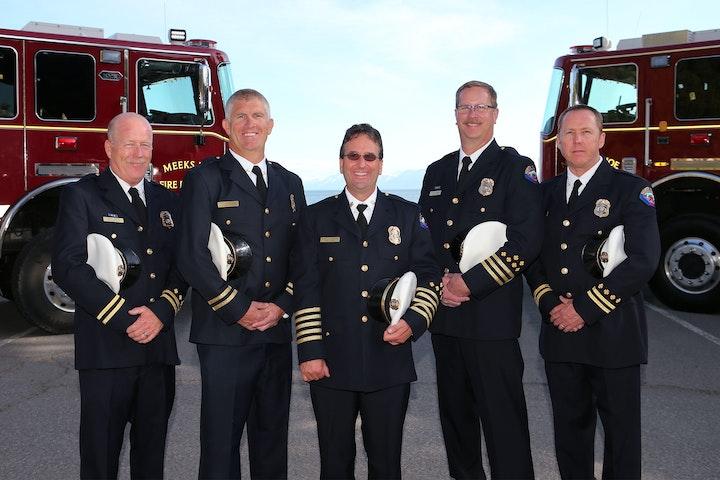 Fire Chiefs in Class A Uniforms