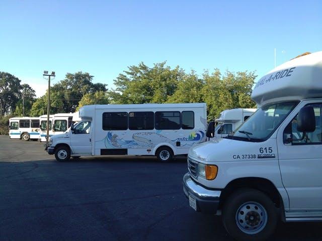 May contain: transit vehicles, transportation, bus, and van
