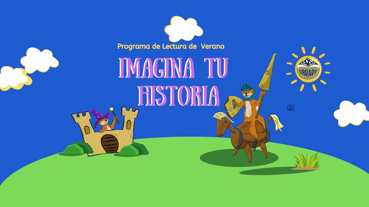 La imagen contiene un paisaje de un castillo y un Caballero.
