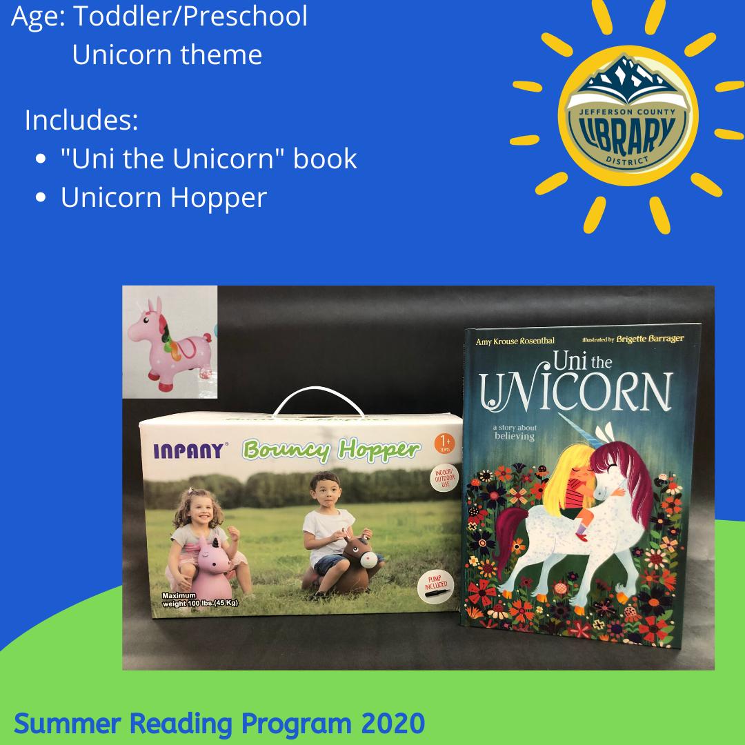 Prize: unicorn for PreK age