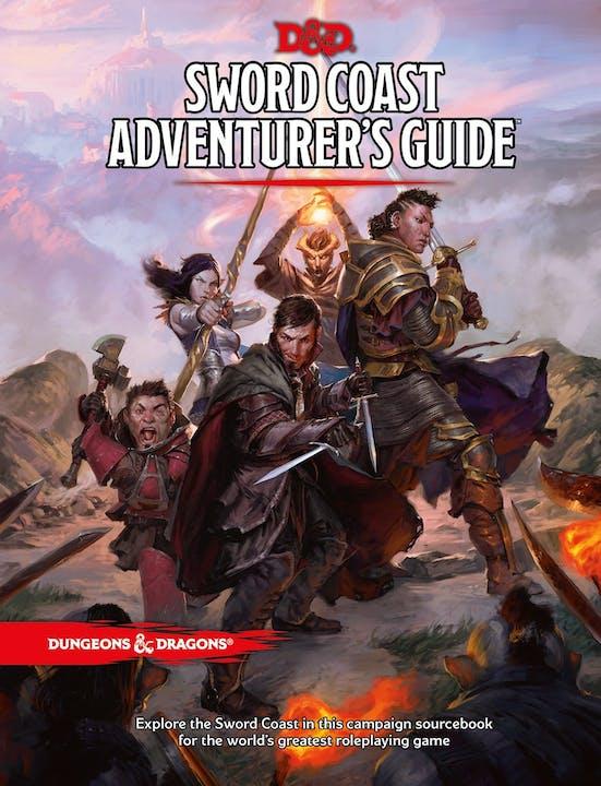 book cover: D&D Sword Coast Adventurer's Guide