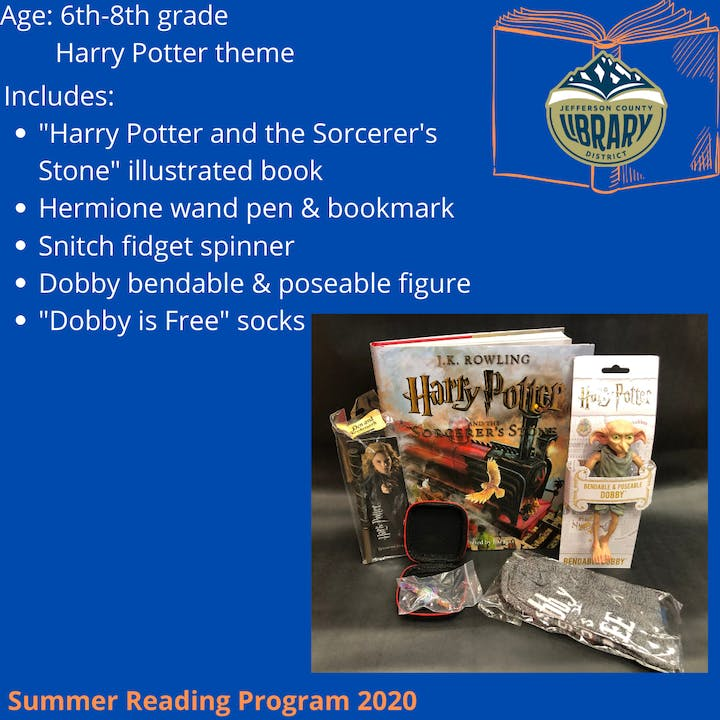 Prize: Harry Potter for middle school age