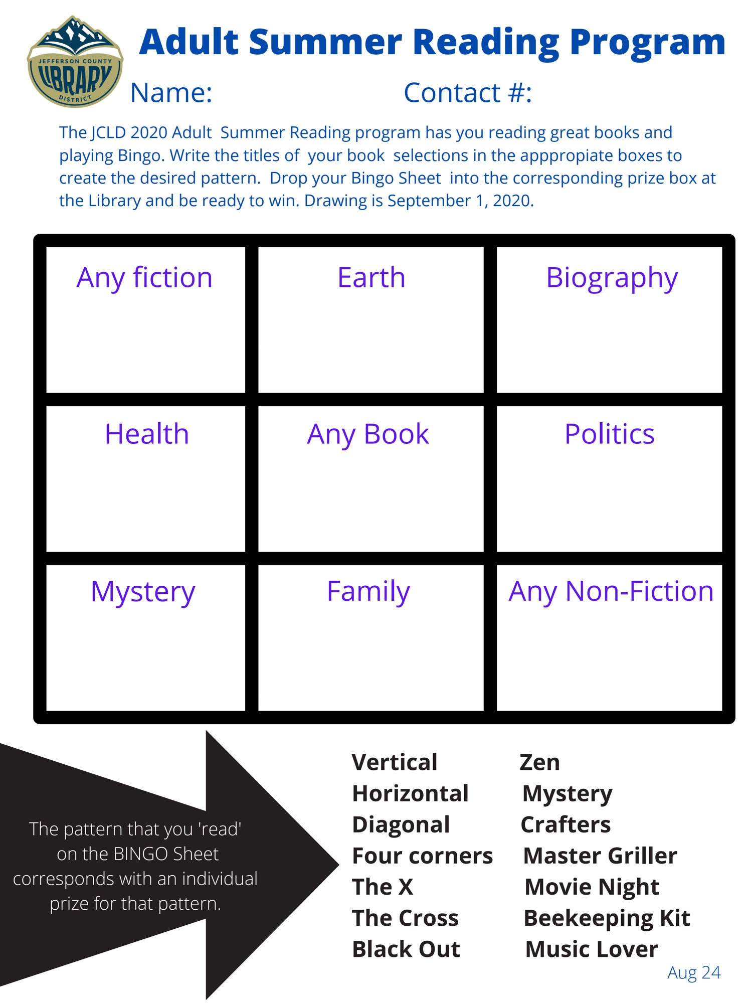 bingo, summer reading, last one