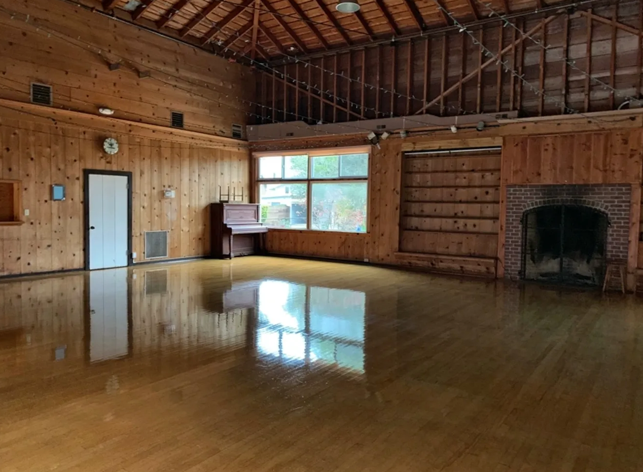 May contain: wood, flooring, floor, hardwood, loft, fireplace, indoors, housing, and building