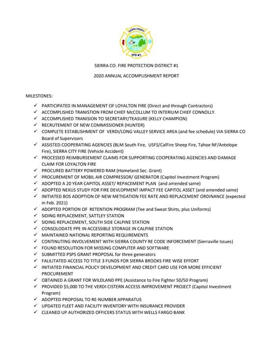 Annual Accomplishment Report 2020