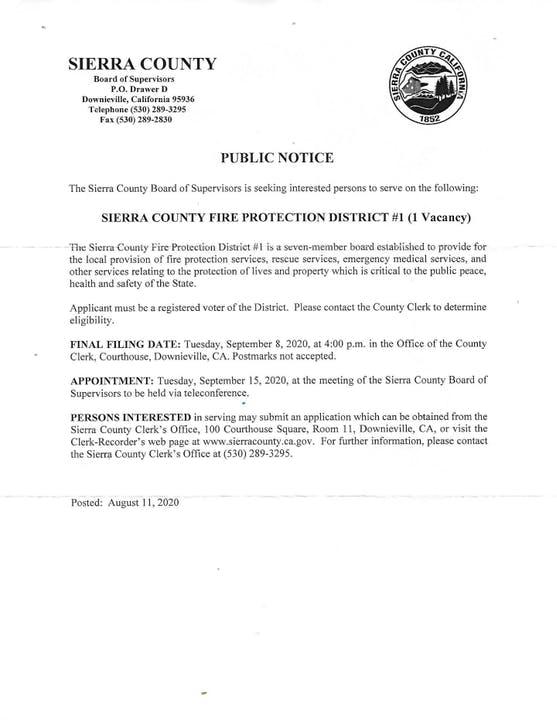 Public Notice of Board Vacancy