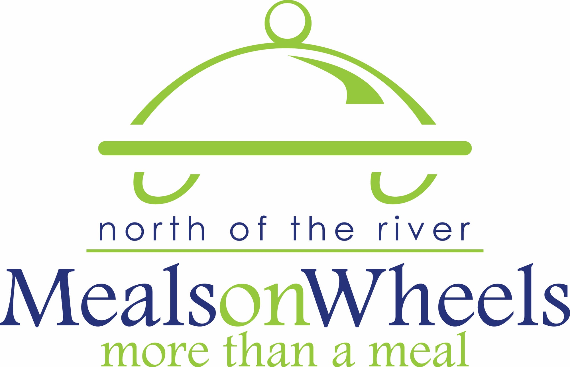 Dining tray on wheels, Meals on Wheels text