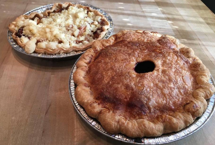 May contain: dessert, food, cake, pie, and apple pie