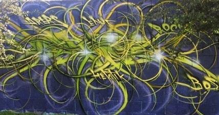 May contain: graffiti, art, and painting