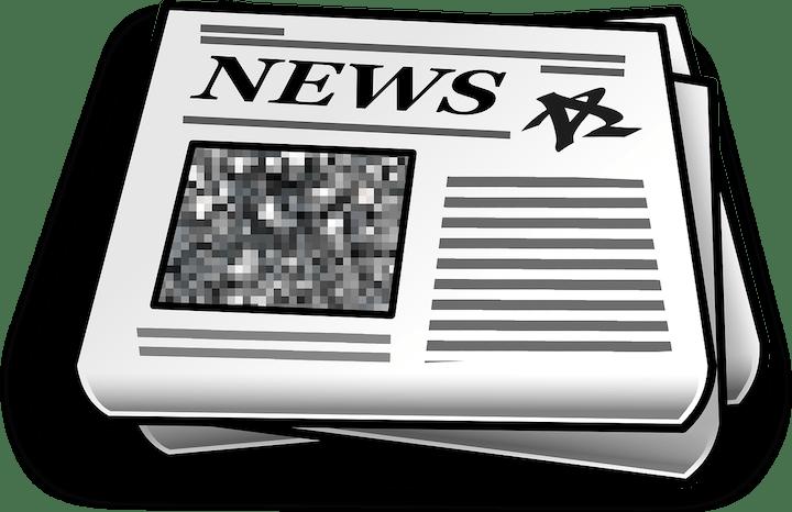 Graphic depicting generic newspaper